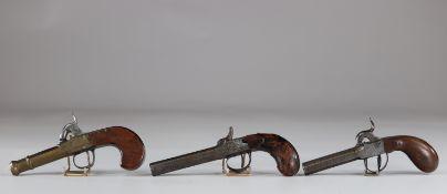 Old pistols set of 3