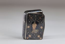 inlaid box decorated with a hunter