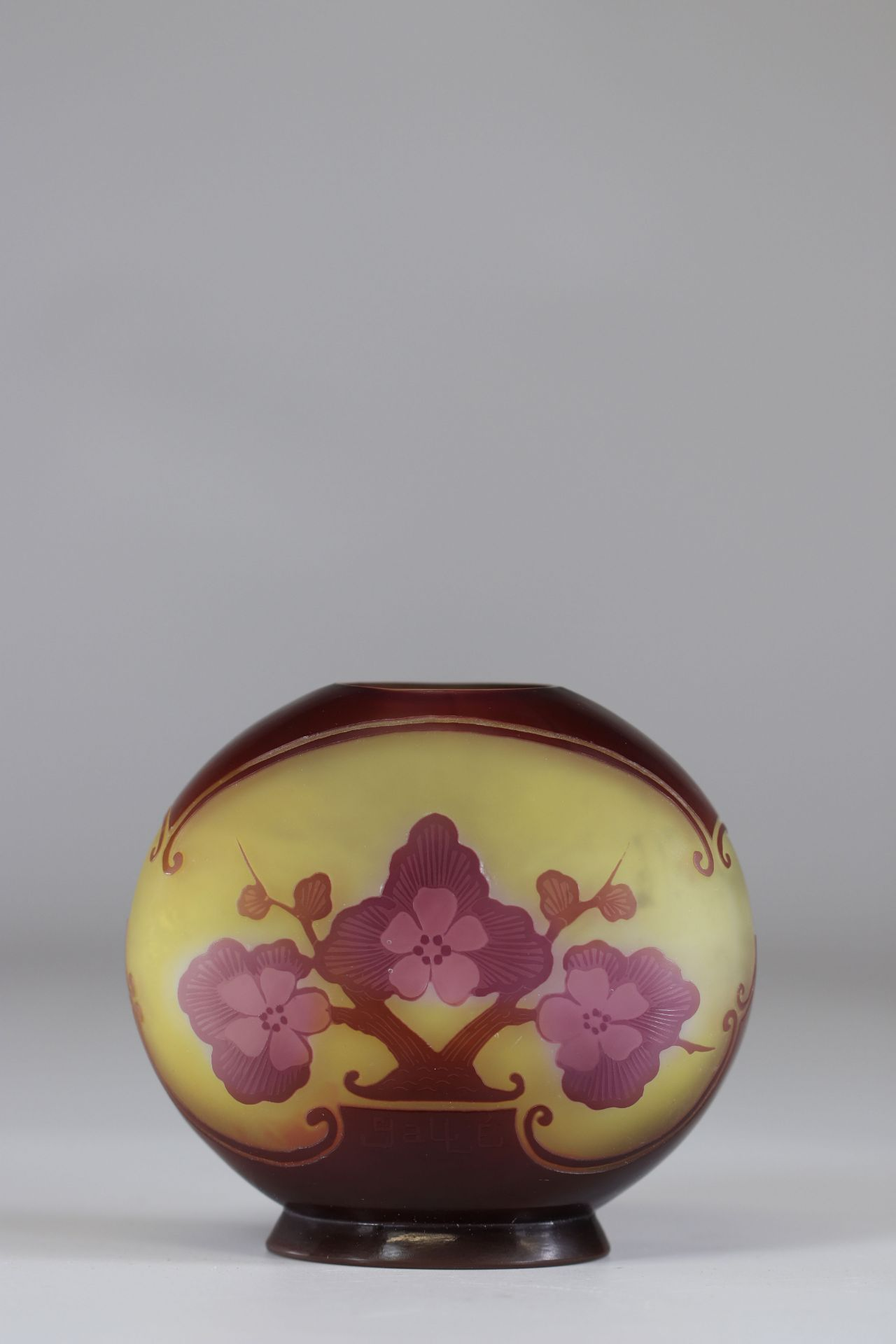 """Emile Galle Vase cleared with acid """"with apple blossoms"""" - Image 3 of 3"""