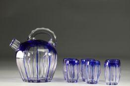 Val Saint Lambert decanter and glasses