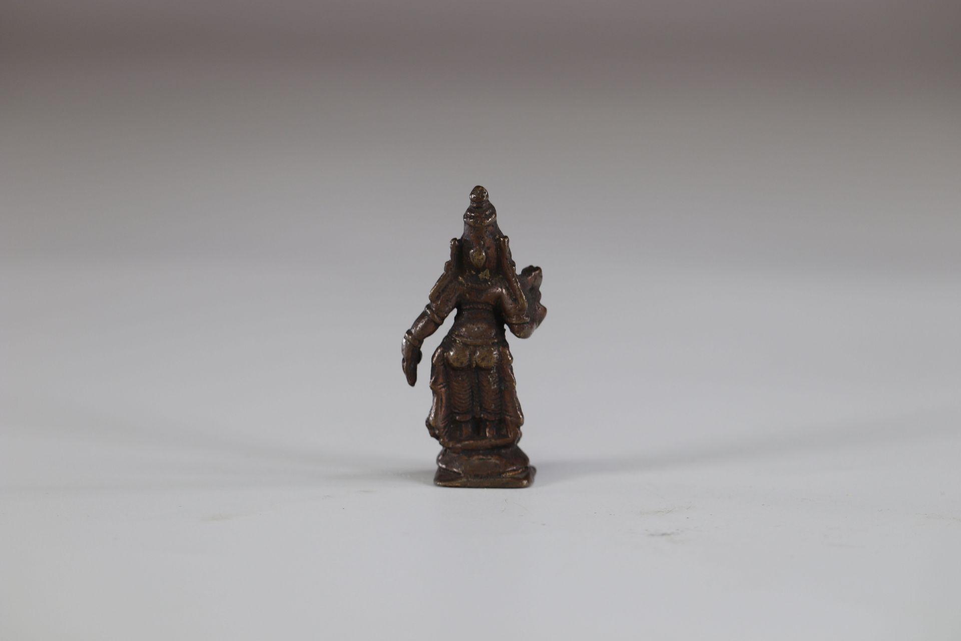 Asia bronze deity - Image 2 of 2