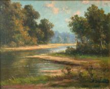 "B. DEPOORTER (XIX-XX) oil on canvas ""landscape"""