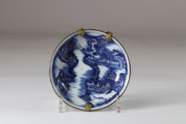 Japan small deep plate with dragon decoration brand under the piece