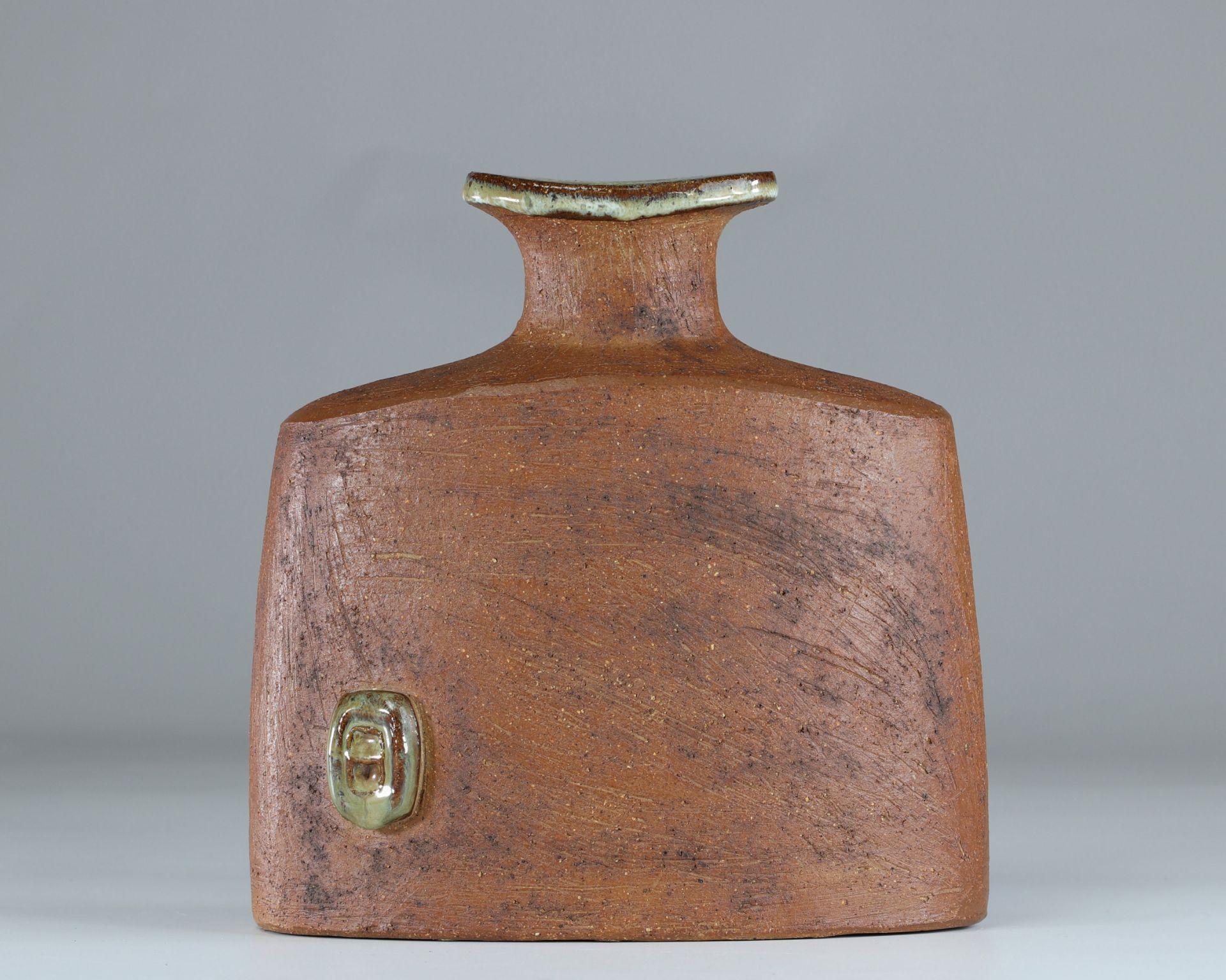Curt-Magnus Addin (1931-2007) enamelled ceramic vase Stamp