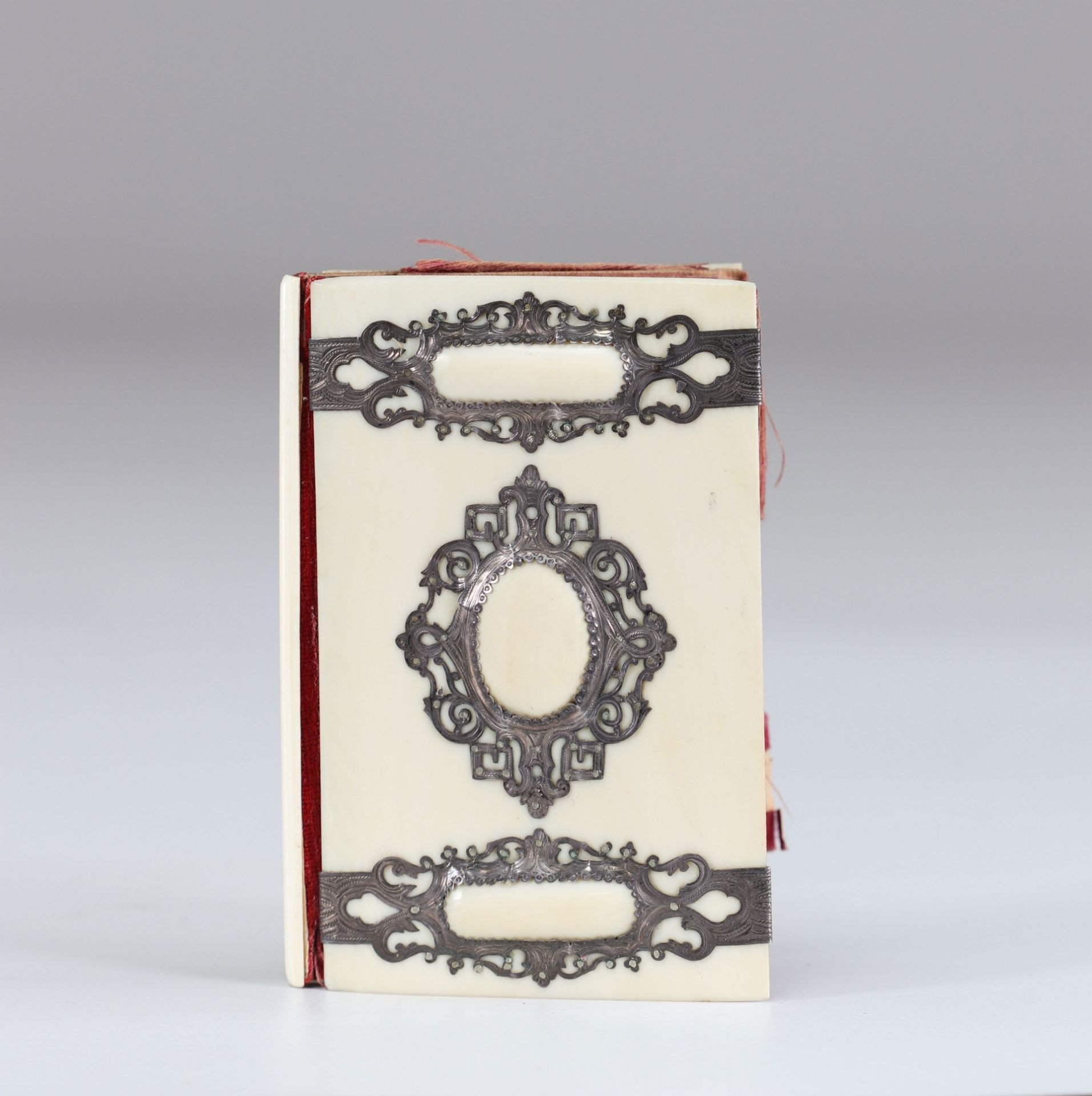 19th ivory and silver prom notebook
