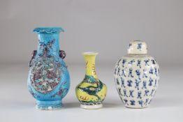 China set of 3 porcelains