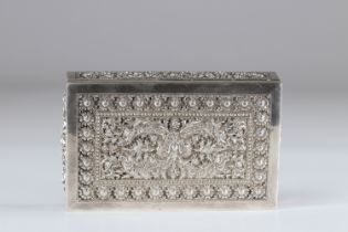 Cambodia silver box finely carved early 20th century