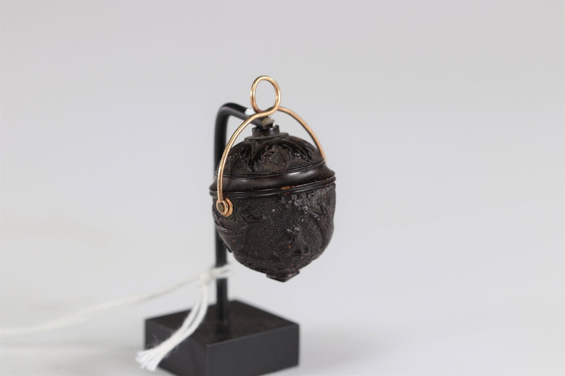 Miniature carved walnut with the arms of Louis XV - Image 2 of 2