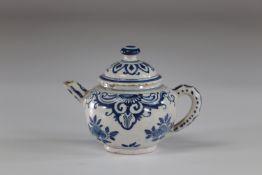 China blue white porcelain teapot