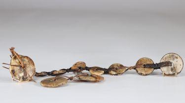 Oceania 19th century stone coin jewelry