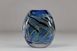Maxence Parot - Large Opaline Vase bursts of color