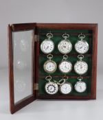"""Pocket watches """"pocket"""" lot of 9 watches"""