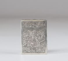 India silver box decorated with a character