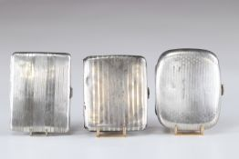 silver boxes (3) early 20th century