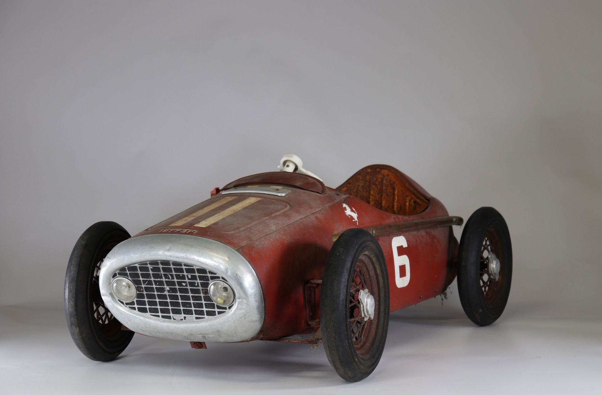 Old Ferrari pedal car