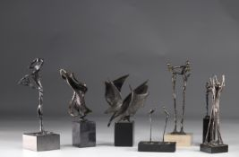 Lot of bronze sculpture 70's