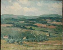 """Karel LERBERGHE VAN oil on panel """"landscape"""""""