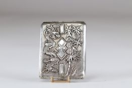 China dragon and bamboo silver box