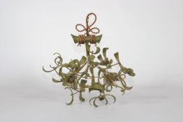 Art Nouveau chandelier in the shape of a bouquet by mistletoe circa 1920