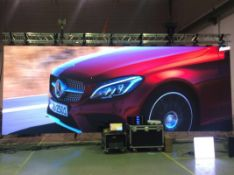 48m2 of Esdlumen IDa2.8Plus LED indoor display, pitch: 2.86mm, panel size: 500mm x 500mm comprising: