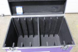 8 Way flight case suitable for Esdlumen Wing Plus 2.6mm LED panels, case size: 560mm x 900mm x 760mm