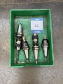 4x HD40 CNC machine chuck collets & tools