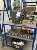 Delapena bench mounted honing machine, Serial No. 676 with approx. (30) honing tools