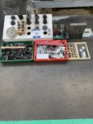 Assorted collet chucks, tools, precision collets, gauges & angle plate etc