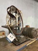 "Vanco 1"" bench mounted vertical belt linishing machine (240v), bench mounted 4"" horizontal belt"