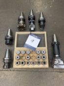 6x Collet chucks & boxed set E470 precision collets