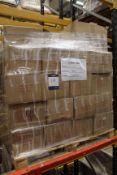 100x Clear Glass PP SHT A4 700MIC Total Retail: £90; 384x Black Linen Sketchbook A4 Total Retail: £