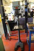 Meddings MF4 single spindle pillar drill, Serial No. 029268 with rise & fall table