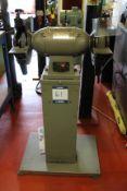 Brierley TG-10 pedestal mounted double ended grinder Serial No. 129107 (2007), grinding wheel: 250mm