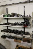 Quantity of various Coborn tool holders and fixtures