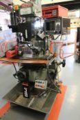 XYZ Machine Tools Pro 1500 VS 3-axis turret head milling machine Serial No. 971 976 (1998), table