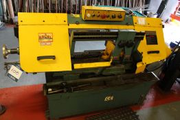 """Excel PBS 250V 10"""" variable speed horizontal band saw, Serial No. 00101114, blade size: 27mm x 0.9mm"""