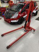 Clarke Strongarm CFC500E mobile hydraulic engine crane, 500kg maximum capacity. S/No. 15R 5461.