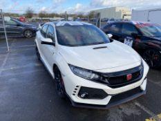 Honda Civic FK8 type R left hand drive race car, White paint finish, 2017 build, standard Type R