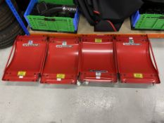 Clarke Strongarm AWDI vehicle skate set, (Qty 4) 500kg per skate. 2000kg capacity per set