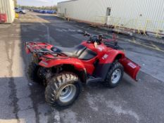 Honda Fourtrax ES TRX420FE 4x4 petrol 18.3 Kw quad bike, 182 recorded hours fitted with Logic snow