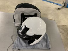 Sparco Jet Pro 2013 open face racing helmet with cover and storage bag size XL- 61 (Used)