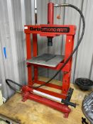 Clarke Strong-Arm 10 tonne 'H' frame bearing press with hand operated hydraulic power pack, capacity