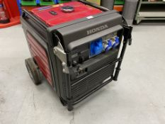 Honda EU65iS inverter mobile petrol generator, rated power 5.5kw, 230 volts, 23.9A, (2014).