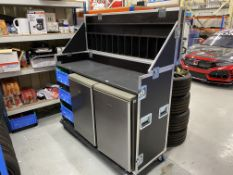 Mobile catering flight case with upper serving counter including 2 x Zanussi TT160C under counter