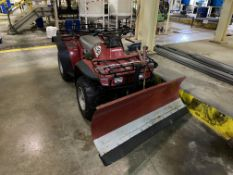 Honda Big Red 300 4 x 4 quad bike fitted with Logic 1500mm snow plough, 422 recorded hours on the
