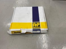 AP Racing floating front brake discs (Qty 6) Type CP5772-2069CG8, and AP Racing rear brake discs (