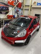 Honda Jazz left-hand drive race car, 2009 built Red paint finish, with 2.0L petrol Type R engine,