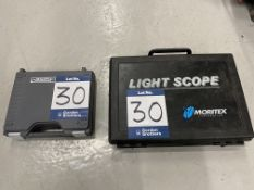 Two inspection scopes to include 1 x Moritex MSHS-1000-11 endoscope fibre light scope in case s/