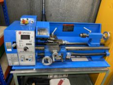 Sumore SP2124-1 Bench type centre lathe with 3 jaw chuck, spindle speeds (A) 100-1100 R.P.M, (B)