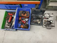 Powered hand tools to include 1 x Dynabrade 57502 pneumatic sander polisher, 1 x Pmax MR-2310B